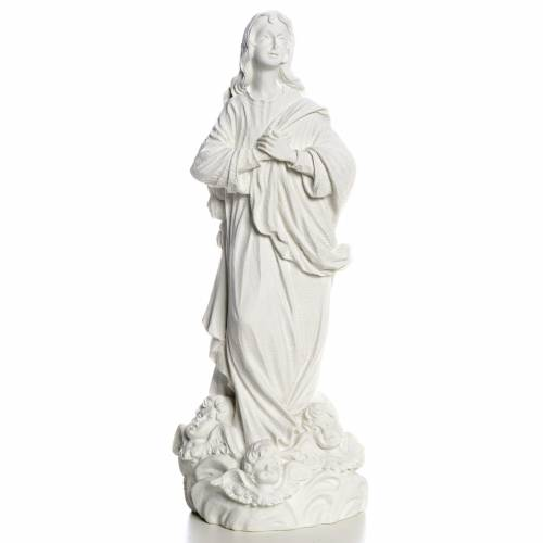 Blessed Virgin Mary in reconstituted Carrara marble s1