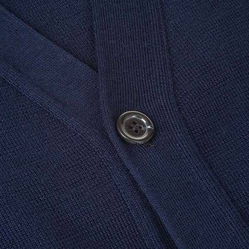 Blue woolen jacket with buttons s3