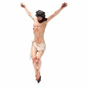 Body of Christ, Neapolitan in terracotta, glass eyes H45cm s2