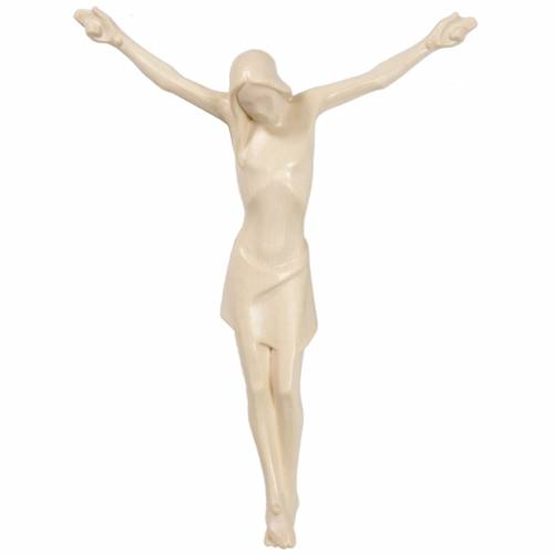 Body of Christ, stylised in Valgardena wood, waxed s1
