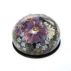 Boite laquée russe 'fleurs colorés' Palekh s1