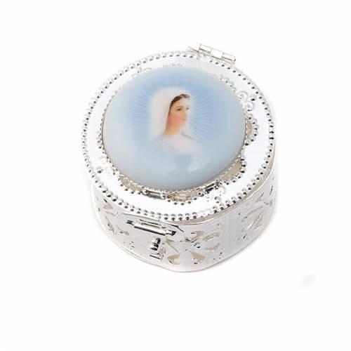 Boîte ronde, filigrane, porcelaine s3
