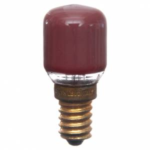 Lámparas y Luces: Bombilla 15w roja E14 para belén