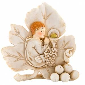 Bomboniere e ricordini: Bomboniera comunione Bambino foglia 11 cm