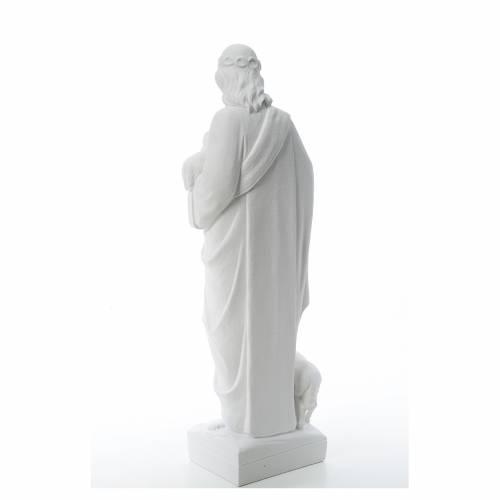 Bon Pasteur avec brebis marbre reconstitué s3