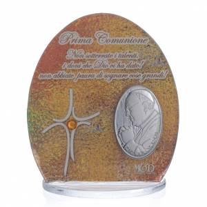 Bonbonnière Communion Pape François 8,5 cm s1