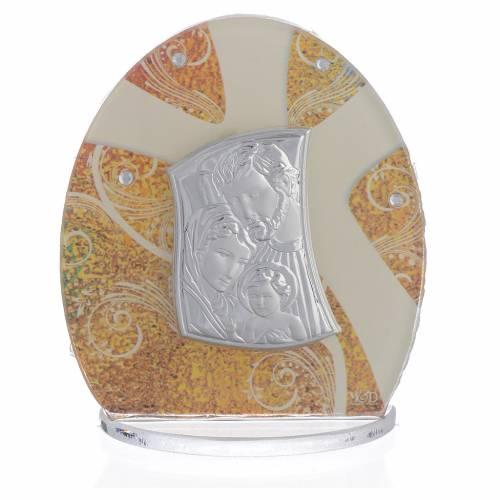 Bonbonnière Sainte Famille argent 8,5 cm s1