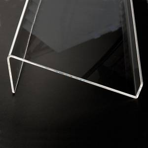 Book stand in plexiglass, 5mm rounded s5