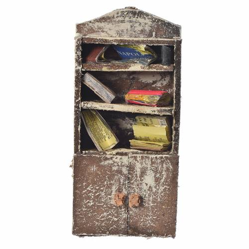Bookshelf for nativity scene, 15x7x3cm s1