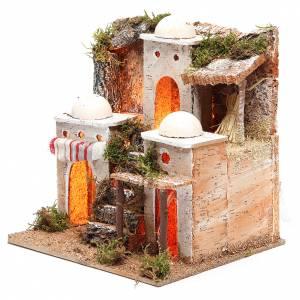 Borgo arabo con luce 21x23xh.23 cm s2