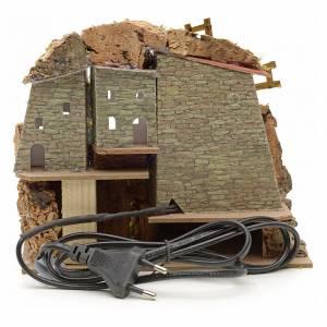 Borgo con mulino a vento presepe 18x20x15 con scaletta s3