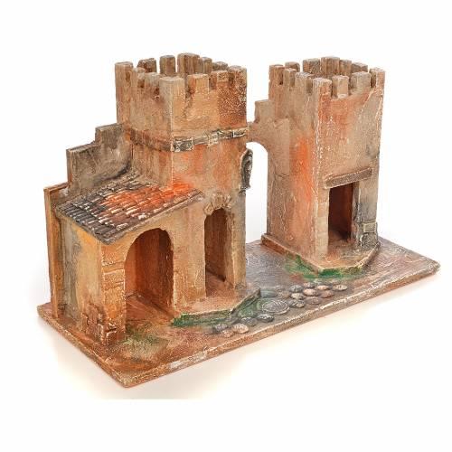 Borgo con torri presepe Fontanini 6,5 cm s2