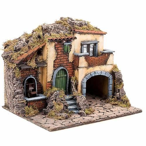 Borgo presepe con mulino ad acqua 30X40X35 3