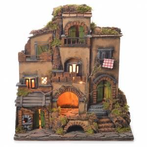Borgo presepe stile 700 napoletano cm 45x35x33 s1