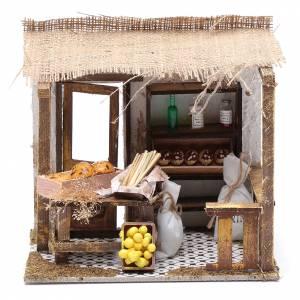 Ambientazioni, botteghe, case, pozzi: Bottega forno 15x20x15 cm per presepe