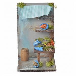 Ambientazioni, botteghe, case, pozzi: Bottega pescivendolo presepe cm 15x9,5x9,5