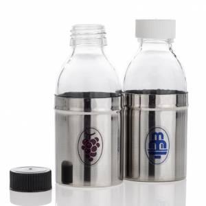 Ampolline Metallo: Bottigliette corazzate acqua e vino, coppia 30 cc