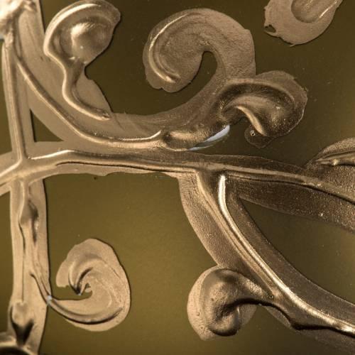 Boule de Noel dorée verre soufflé  8 cm s3