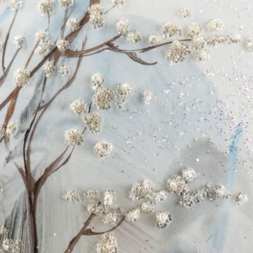 Boule de Noel verre paysage enneigé 15 cm s6