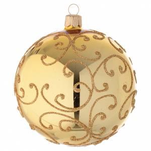Boule verre décor d'arabesques or 100 mm s2