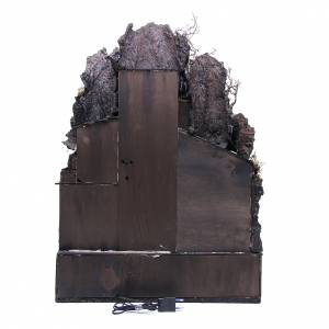 Bourgade dans la roche 70x50x50 cm crèche napolitaine s4