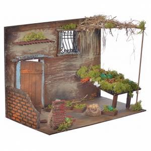 Boutique fruits et légumes en miniature cm 33x18x25 s2
