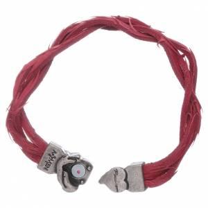 Bracciale AMEN rosso pelle intrecciata con simbolo della Passione s3