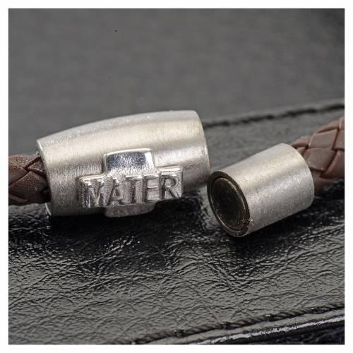 Bracciale MATER marrone croce argento 925 s2
