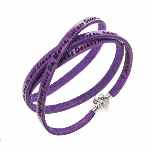 Bracelet Amen Je Vous Salue Marie violet ALL s1