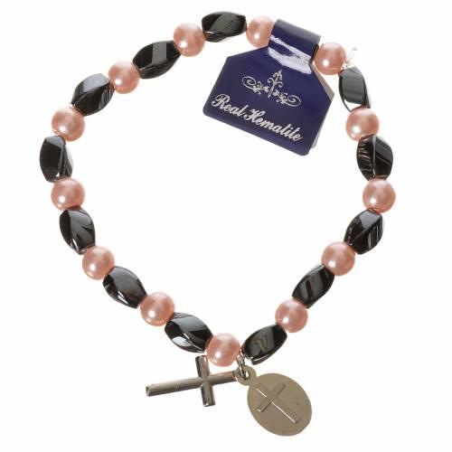 Bracelet élastique hématite Jean-Paul II 6x9 mm 3