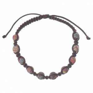 Bracelet fimo Medjugorje marron s1