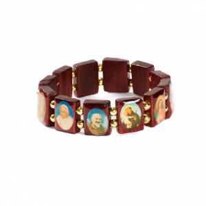 Bracelet-chapelet, images, perles dorées s1