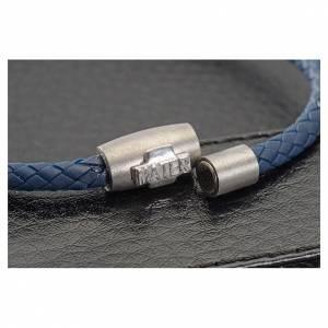 Bracelet MATER bleu croix argent 925 s2