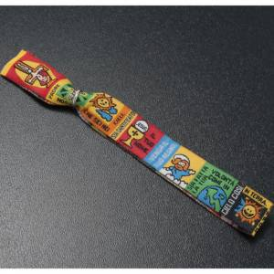 Bracelet religieux en tissu avec marque page Notre Père ITA s3