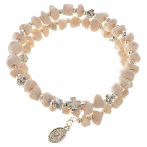 Bracelet with spring in white stone s1