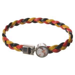 Various bracelets: Braided bracelet, 20cm Pope Francis yellow, black, red
