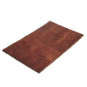 Hauszubehör für Krippe: Brett aus Kork für Krippe: Ziegel