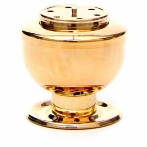 Brucia incenso dorato per carboncini s1