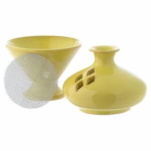 Bruciaincensi: Bruciaincenso in ceramica verde 13 cm