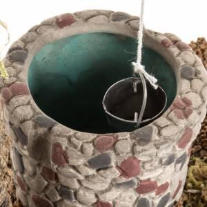 Krippe Häuser, Laden: Brunnen für Krippe 14x14x9 cm