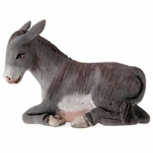 Belén napolitano: Buey y burro 14 cm