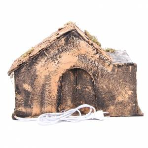 Bungalow like stable for Neapolitan Nativity 27x37x29cm s4