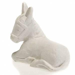 Pesebre Monasterio de Belén: Burro para Pesebre de Otoño de piedra blanca
