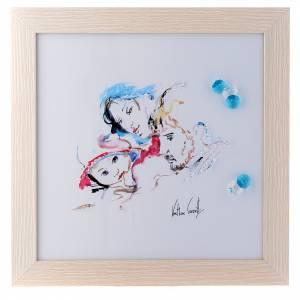 Bonbonnières: Cadre Joie Familiale 27x27 cm cristaux