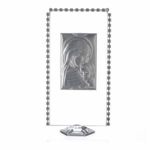 Cadre rectangulaire Maternité et strass 12x6 cm s2