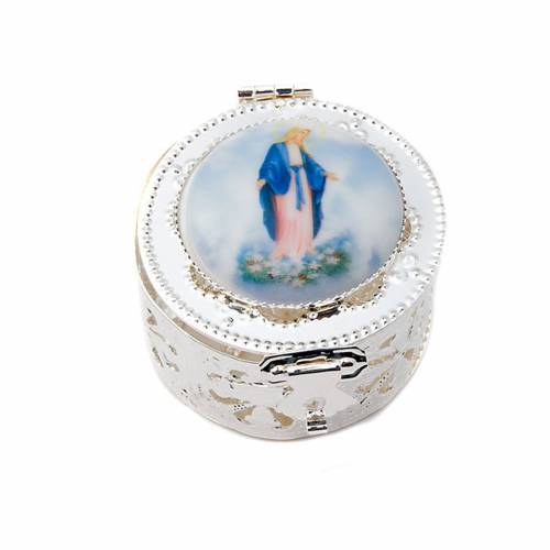 Caja redonda filigrana porcelana 2