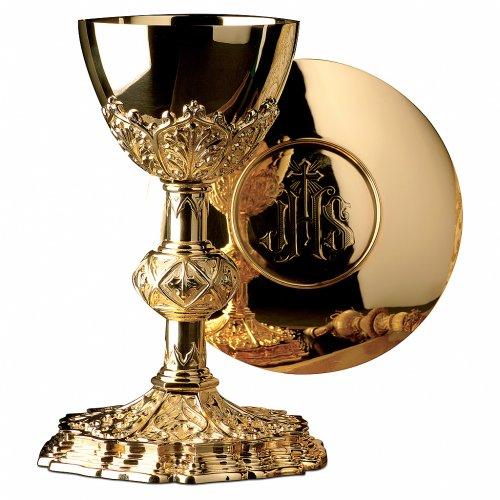 Calice e Patena Molina motivo esclusivo coppa argento 925 dorato s1