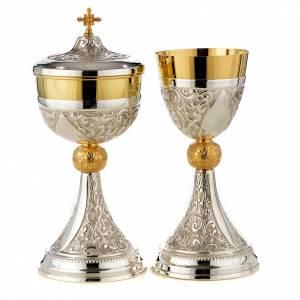 Calici Pissidi Patene metallo: Calice e pisside argento 800 mod. Ercole