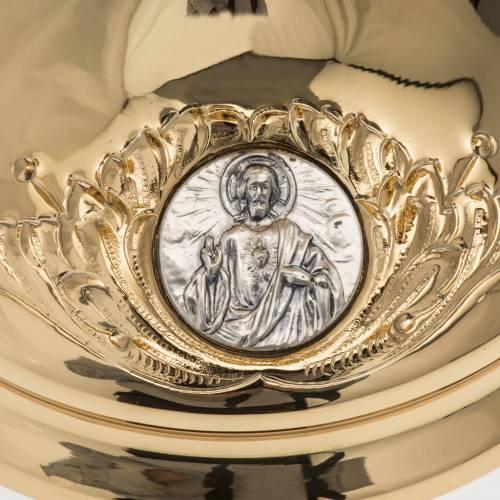 Calice Molina ottone dorato Gesù Giuseppe Maria s5