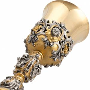 Cálices, Copones y Patenas metal: Cáliz barroco en bronce Jesús José Maria